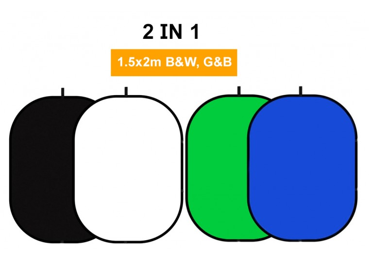 1.5x2m 2-in-1 Collapsible Oval Reflector