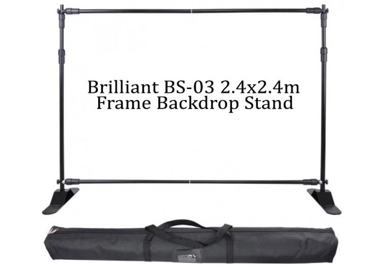 Brilliant BS-03 2.4x2.4m Frame Backdrop Stand