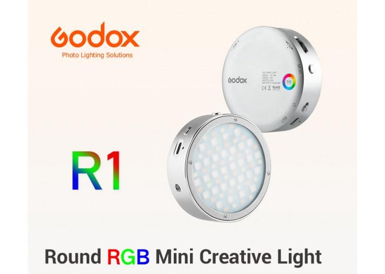 Godox R1 Round Mini RGB LED Magnetic Light