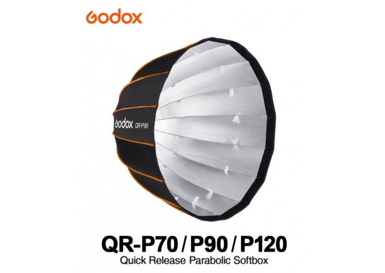Godox QR-P70 P90 P120 Quick Release Parabolic Softbox with Grid