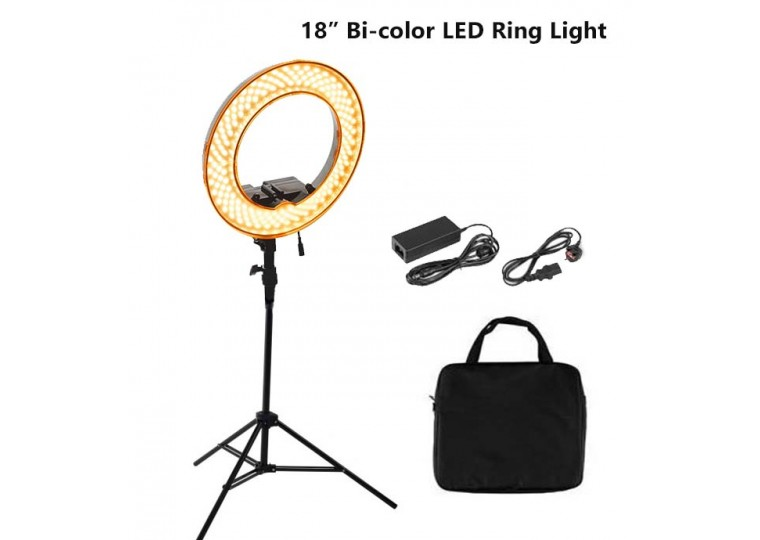 Brilliant RL680B Bi-color LED Ring Light with Sony Battery Compatible Mount