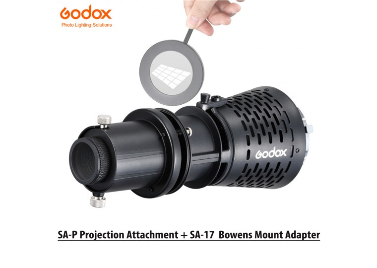 Godox SA-P Projection Attachment with SA-17 Bowens Mount Adapter