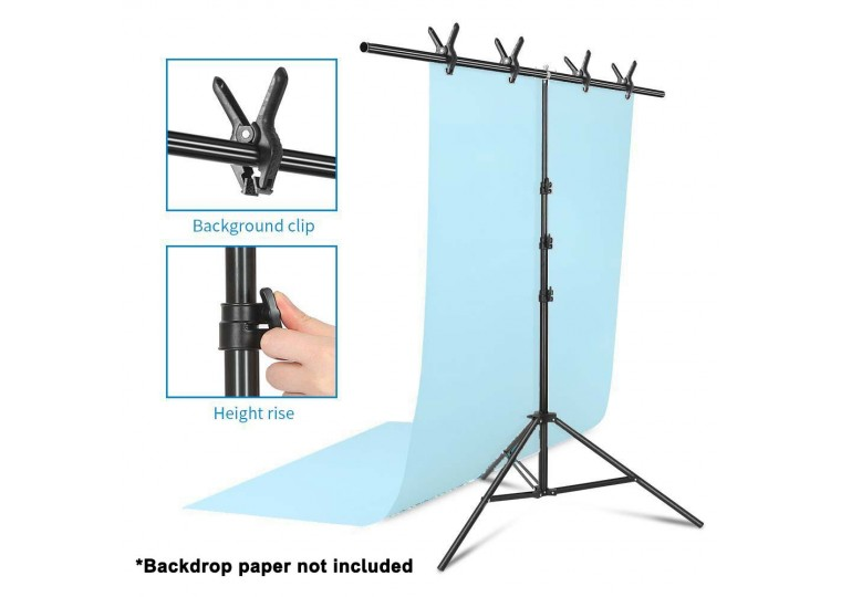 Brilliant T-Shape Adjustable Backdrop Paper Stand