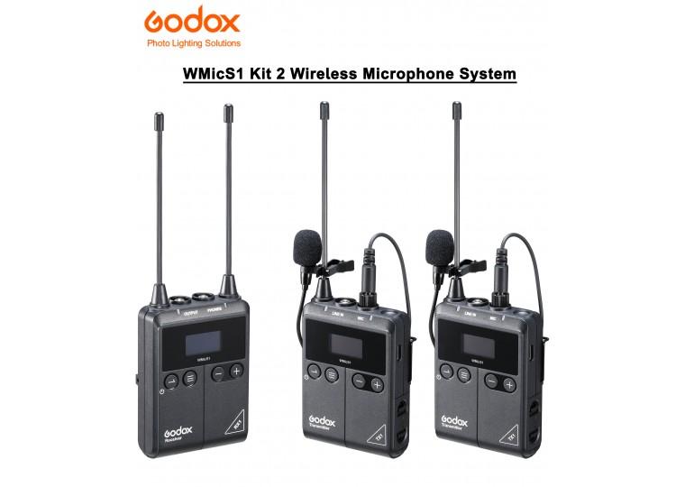 Godox WMicS1 Kit 2 UHF Wireless Microphone System