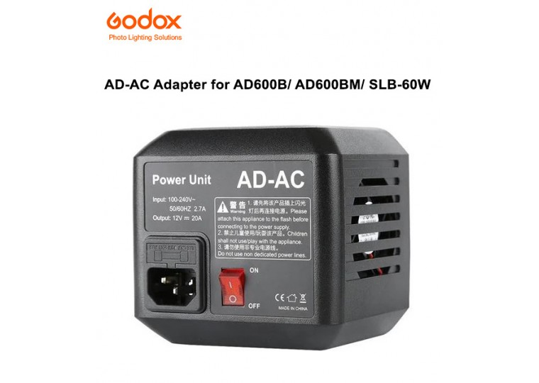 Godox AC Adapter for AD600 AD600B AD600BM SLB-60W