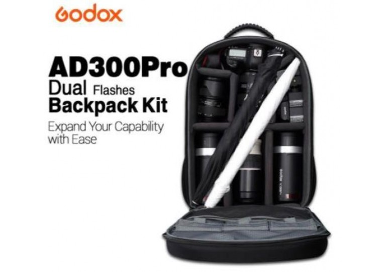 Godox AD300Pro Dual Flashes Back Pack Kit