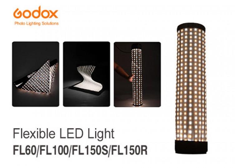 Godox FL60 FL100 FL150S FL150R Flexible Bi-Color LED Video Light with Softbox with Grid
