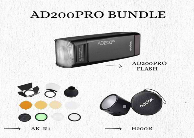 Godox AD200Pro Bundle with Accessories