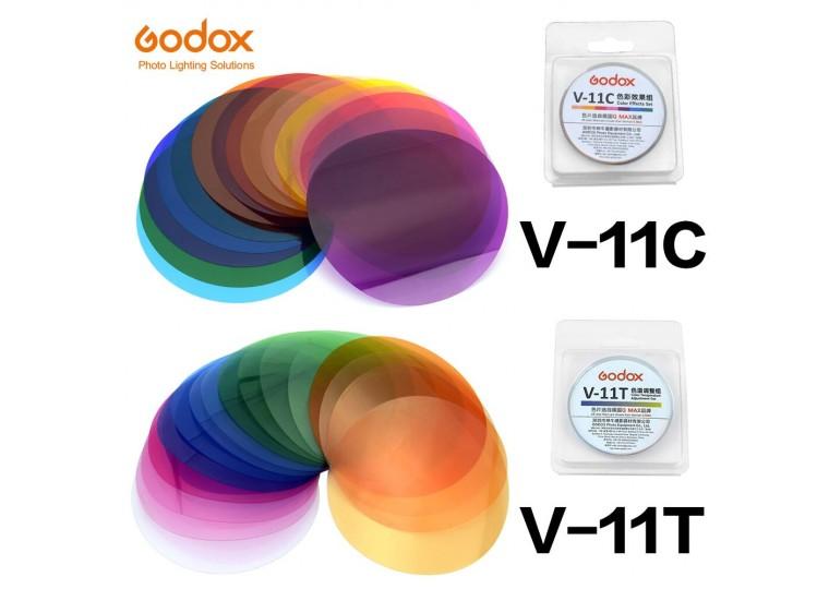 Godox V-11C V-11T Color Filter Set for Round Flash Heads