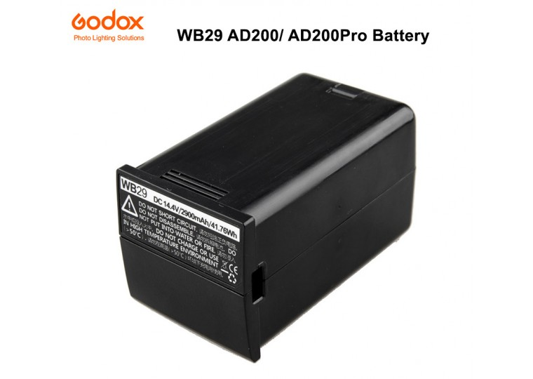 Godox WB29 Lithium-Ion Battery Pack for AD200 AD200Pro Pocket Flash