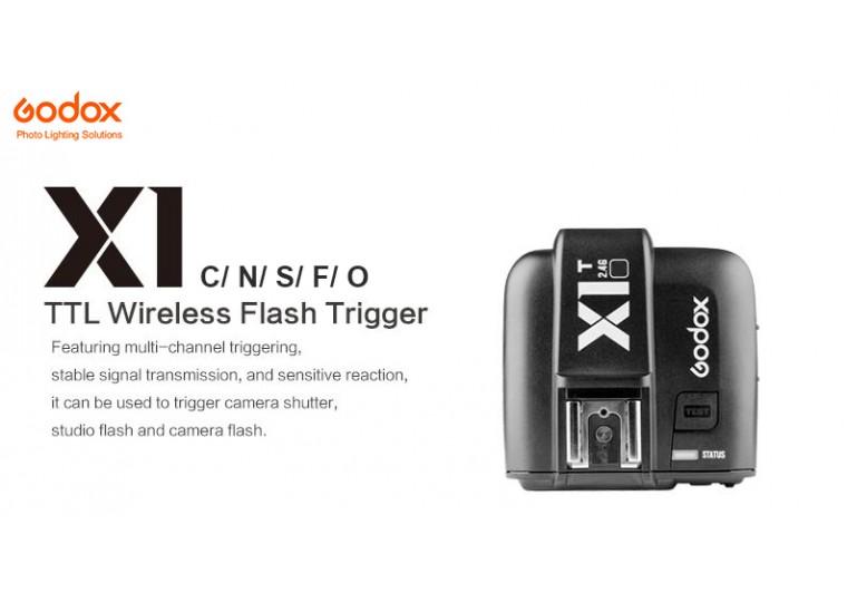 Godox X1 Transmitter for Canon Nikon Sony Fuji Olympus